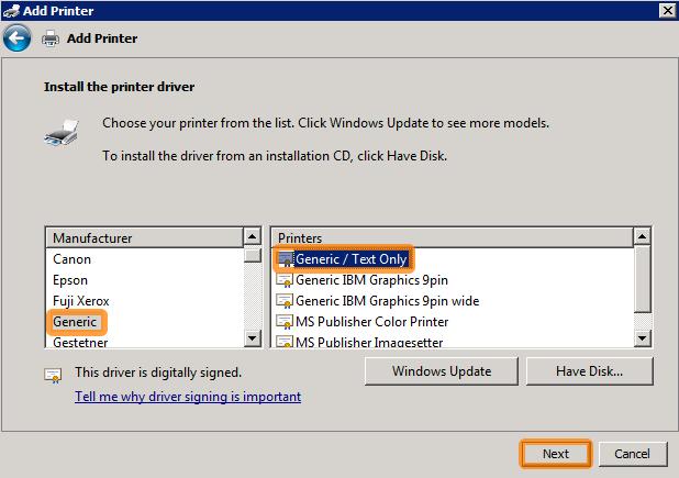 Create a Windows null printer